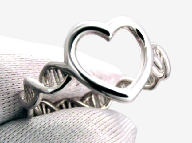 The Ring Of Life DNA Molecule Heart Ring