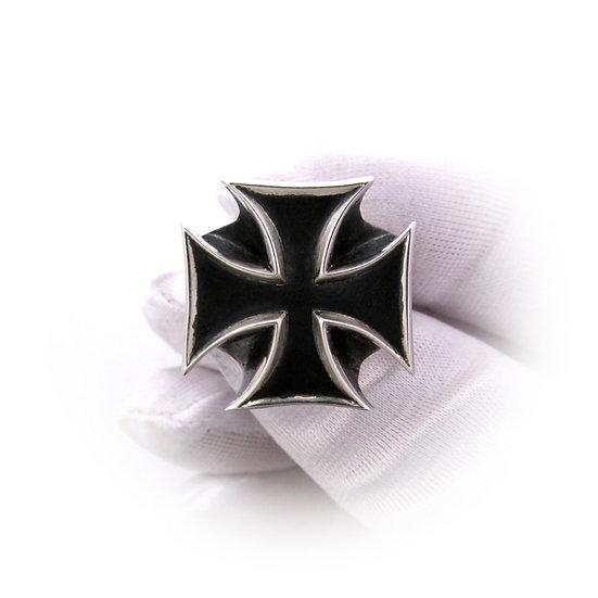 Custom Engraved Iron Cross Ring