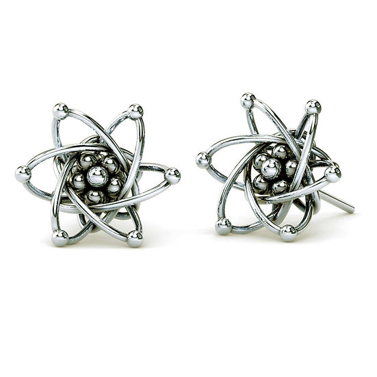 Carbon Atom Stud Earrings