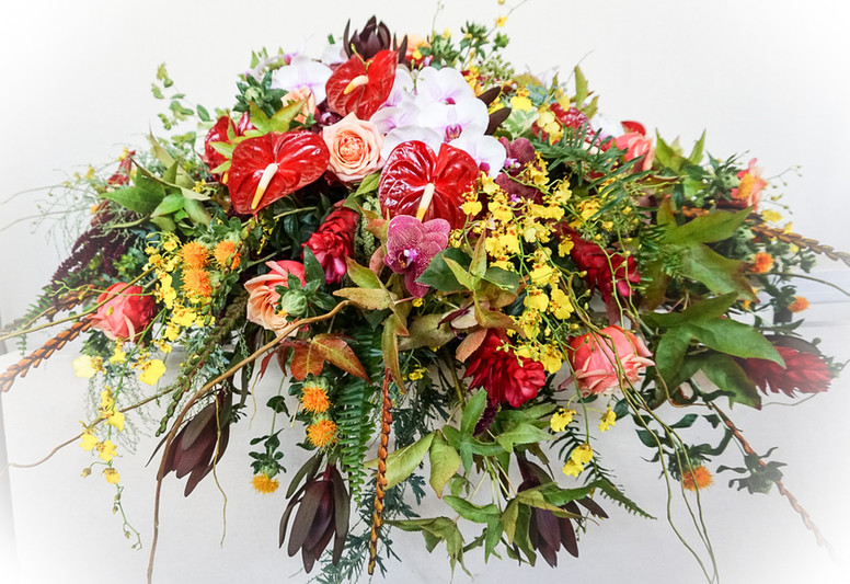 Colorful garden/tropical casket cover.jpeg