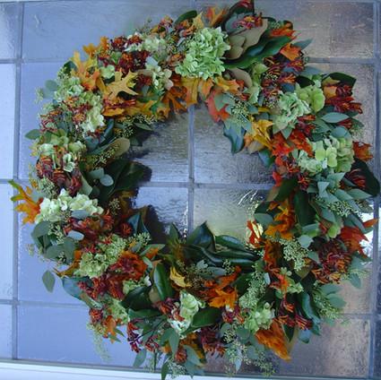 Fresh wreath with magnolia, hydrangea, euculyptus.jpg