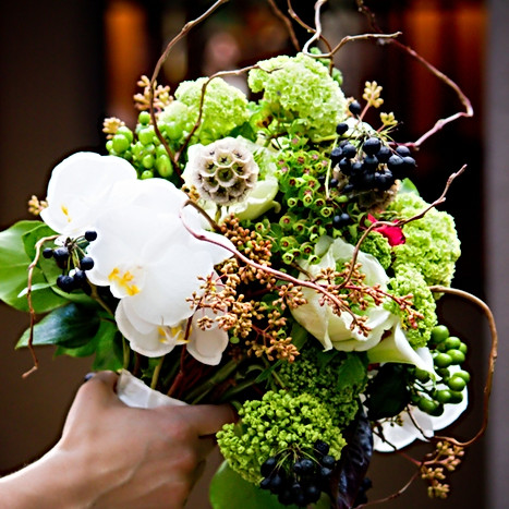 Bridal bouquet- fun textures w/ orchids,twigs,gardenroses,berries and natural stems and ribboned wrapped.jpg