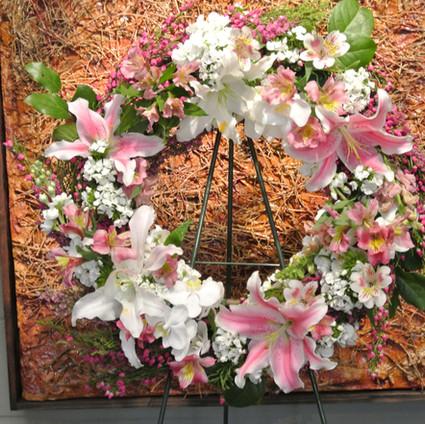 Pink and white fresh wreath.jpg