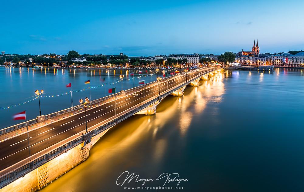 Pont Saint-Esprit à l'heure bleue
