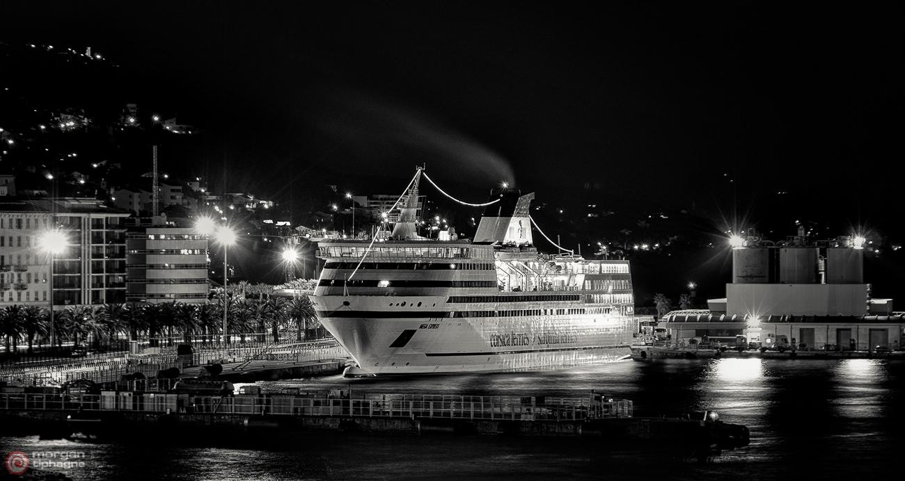 Ferry in the dark