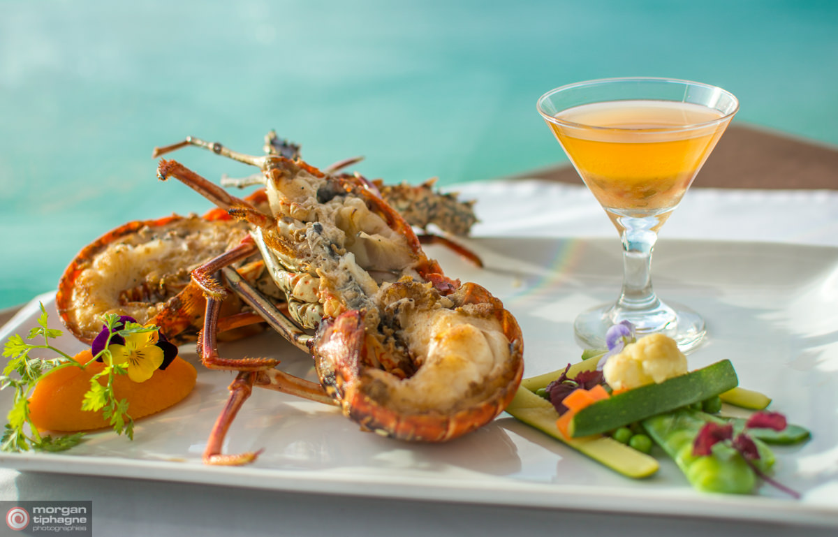 Fresh Caribbean lobster