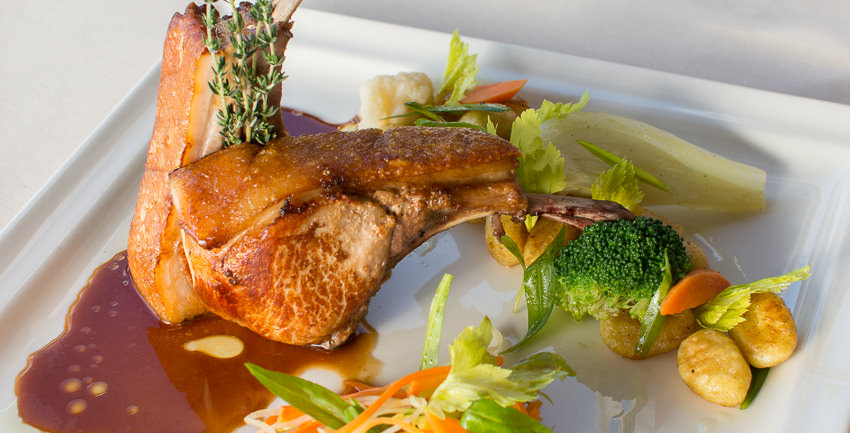 Roasted Caribbean pork