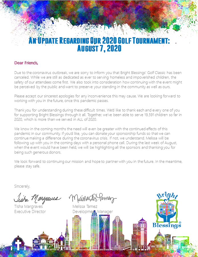 Golf Cancellation SPONSOR Letter 8.7.20.