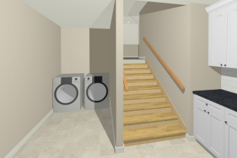 Virginia Beach, VA laundry remodel 3d im