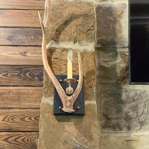 Custom Deer Antler Sconces.jpg