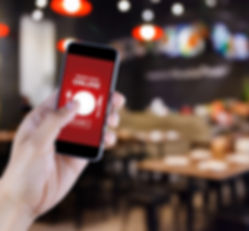 Mobile phone with restaurant online ordering