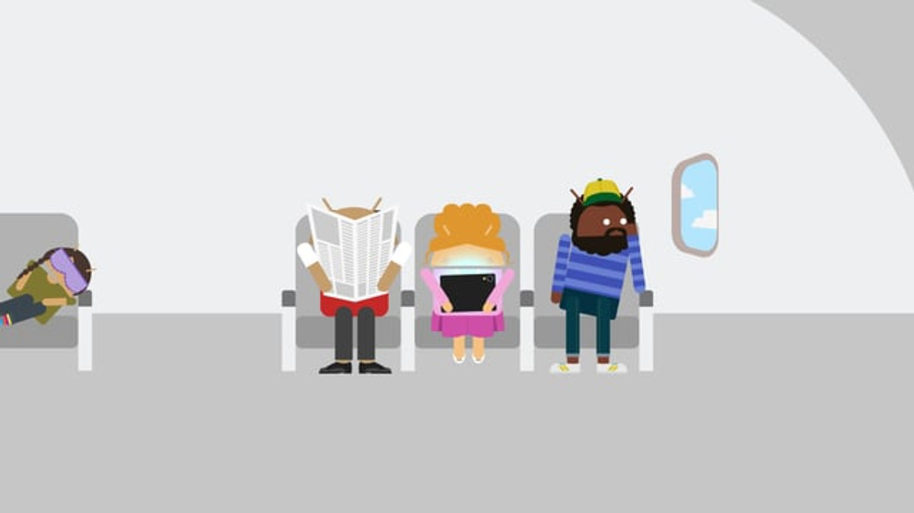 """Google """"Android"""" Airplane"""