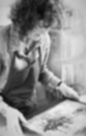 Diane Sandlin, Contemporary Artist at Work