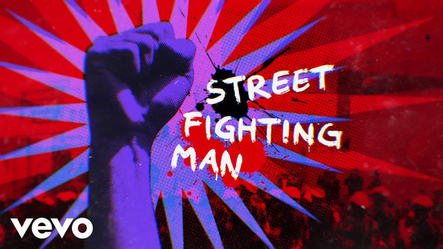 THE ROLLING STONES - STREET FIGHTING MAN - LYRIC VIDEO