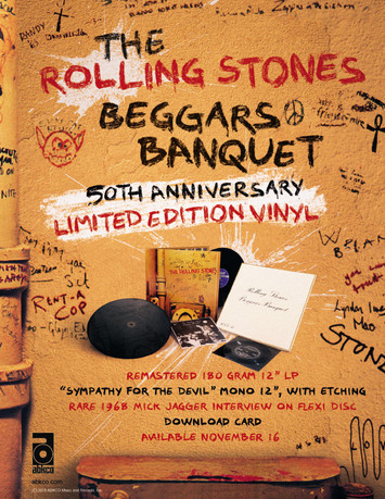 BEGGARS BANQUET ANNIVERSARY RELEASE - FULL PAGE MAGAZINE ADVERT