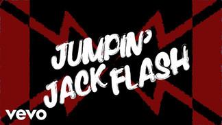 THE ROLLING STONES - JUMPIN' JACK FLASH - LYRIC VIDEO