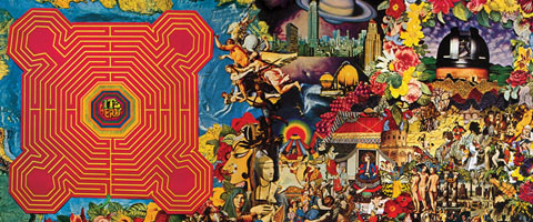 The Rolling Stones 'Their Satanic Majesties Request' inner sleeve used in a series of lyric videos by Yes Please