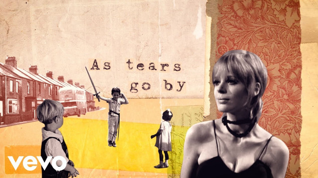 MARIANNE FAITHFUL - AS TEARS GO BY - LYRIC VIDEO