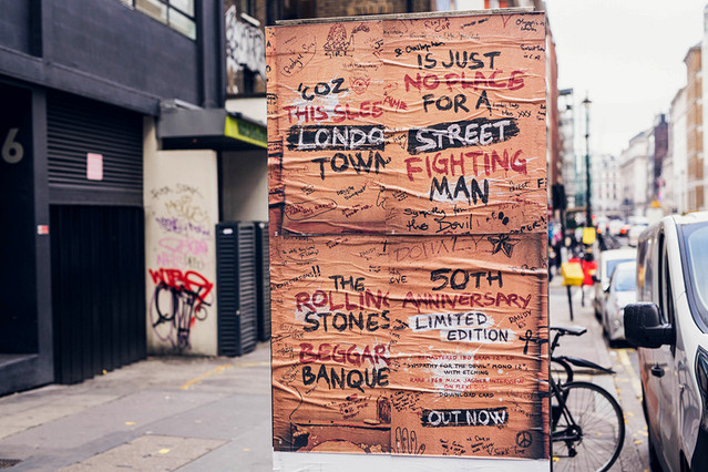 THE ROLLING STONES - BEGGARS BANQUET - 50TH ANNIVERSARY - PASTE-UP POSTERS