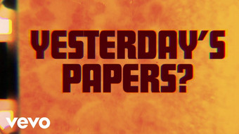 THE ROLLING STONES - YESTERDAY'S PAPERS - LYRIC VIDEO