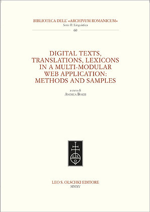 Digital Texts, Translations, Lexicons in a Multi-Modular Web Application