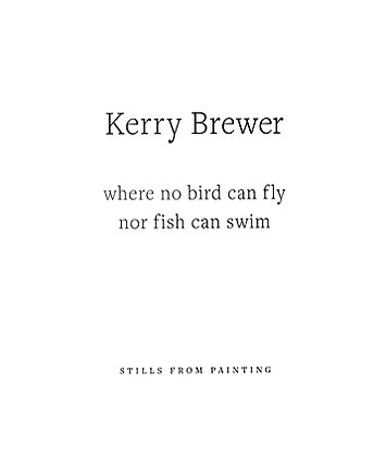 Kerry Brewer: Where No Bird Can Fly or Fish Can Swim