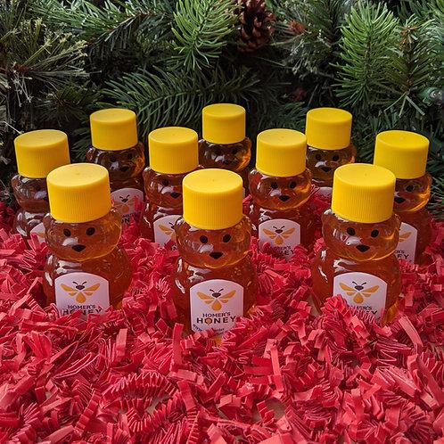 10 Raw Honey Mini Bears - 2 oz.