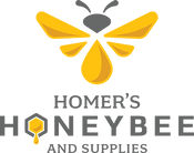 Homers honeybee logo and title.png