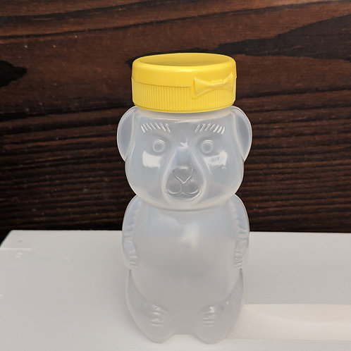 8 Oz. wt. Plastic Bear Bottle w/Cap