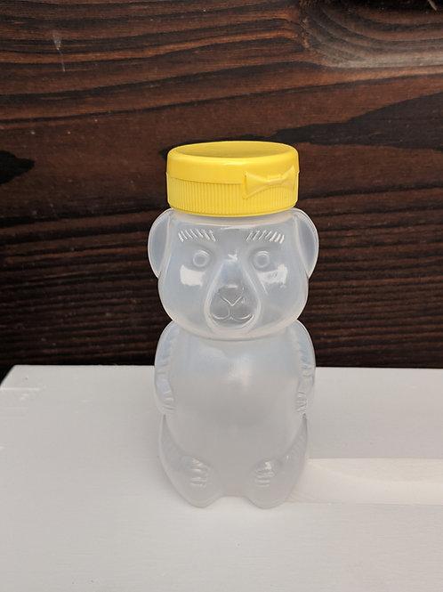 8 Oz. wt. Plastic Bear Bottle w/Cap