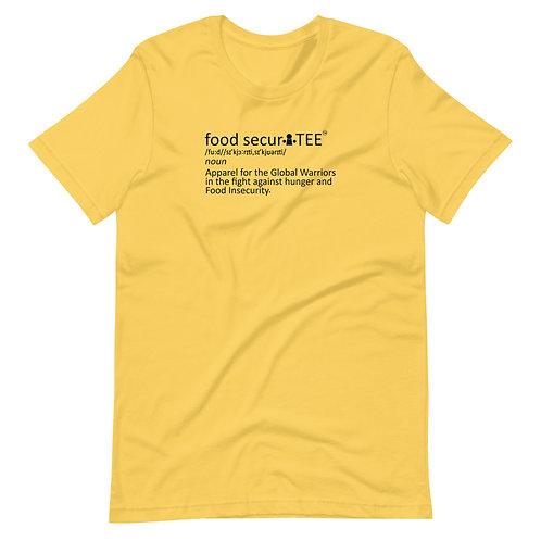 food securiTEE definition Short-Sleeve Unisex T-Shirt