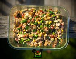 Baked Yam Chicken Salad with Jerk Aioli