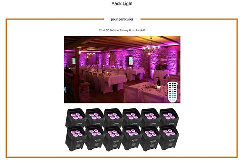 Pack Light 12 LED Batterie