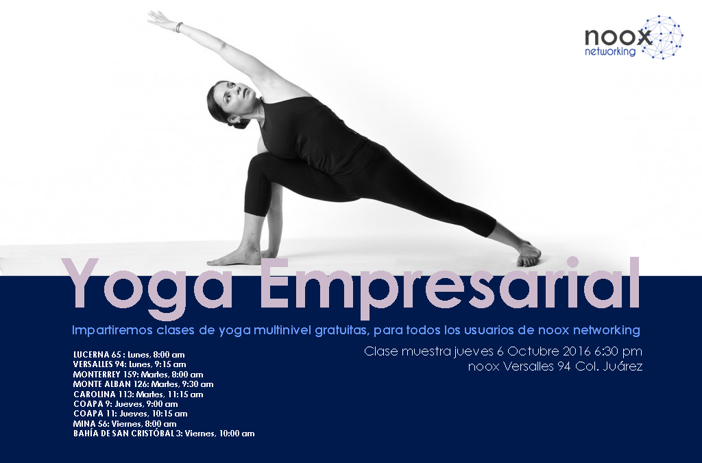 FLYER CLASES YOGA