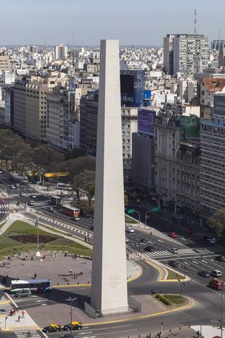 El Obelisco sin punta.