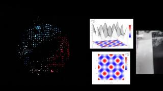 Imágenes y animaciones por medio partículas diminutas.
