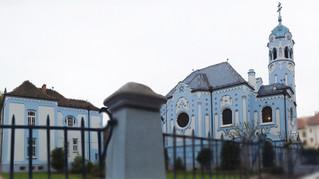 Iglesia azul.
