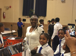 Ms. Spellman with Amari at Harlem Renaissance performance