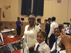 Ms. Spellman with Amari at Harlem Renaissance performance