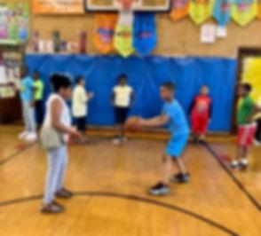 Ball handling drill at Fab Friday Basketball Club