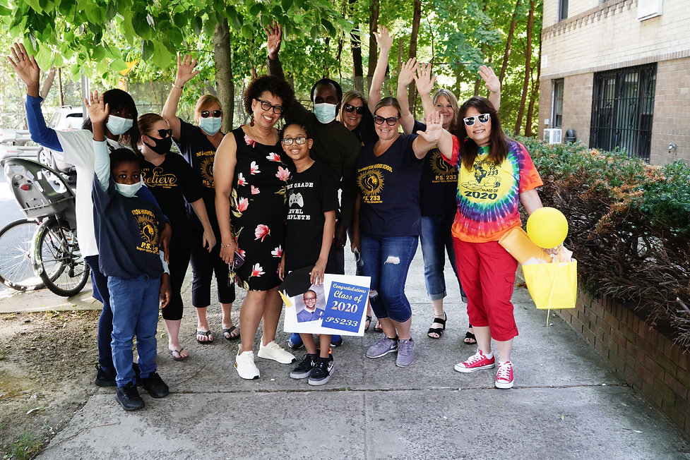 Teachers visit 2020 graduate