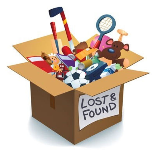 lost and found box with toys