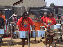 Ms. Constantine on steel drums