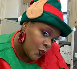 Tanisha as Elf for Polar Express Event