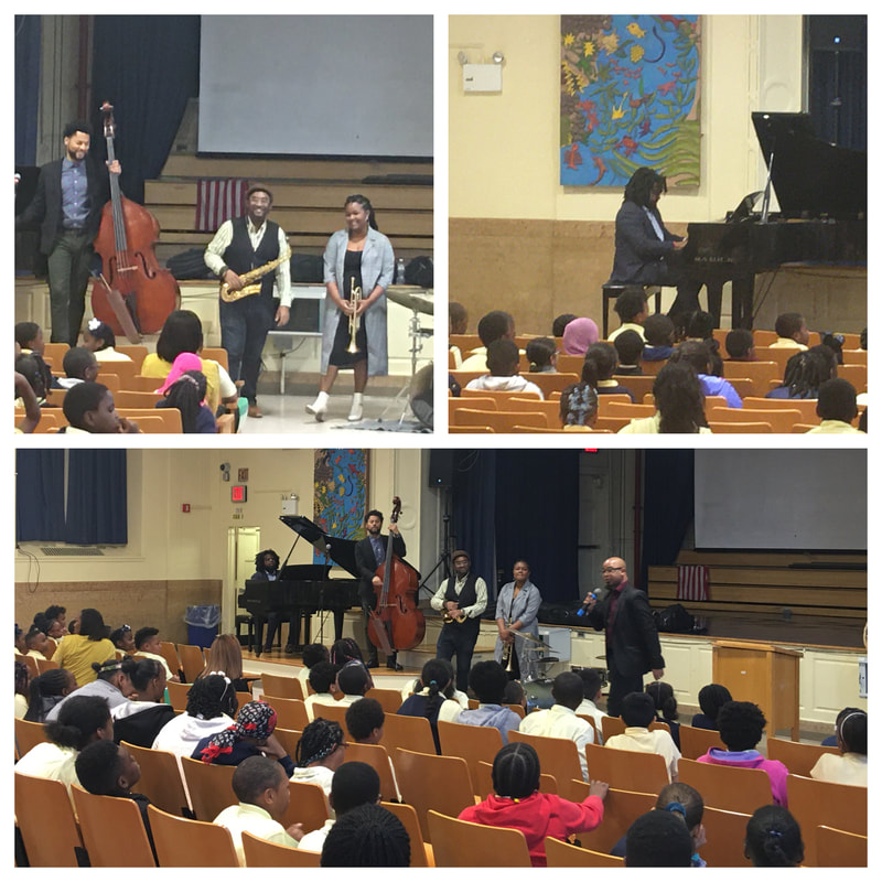 Jazz performers speak with students about Jazz history