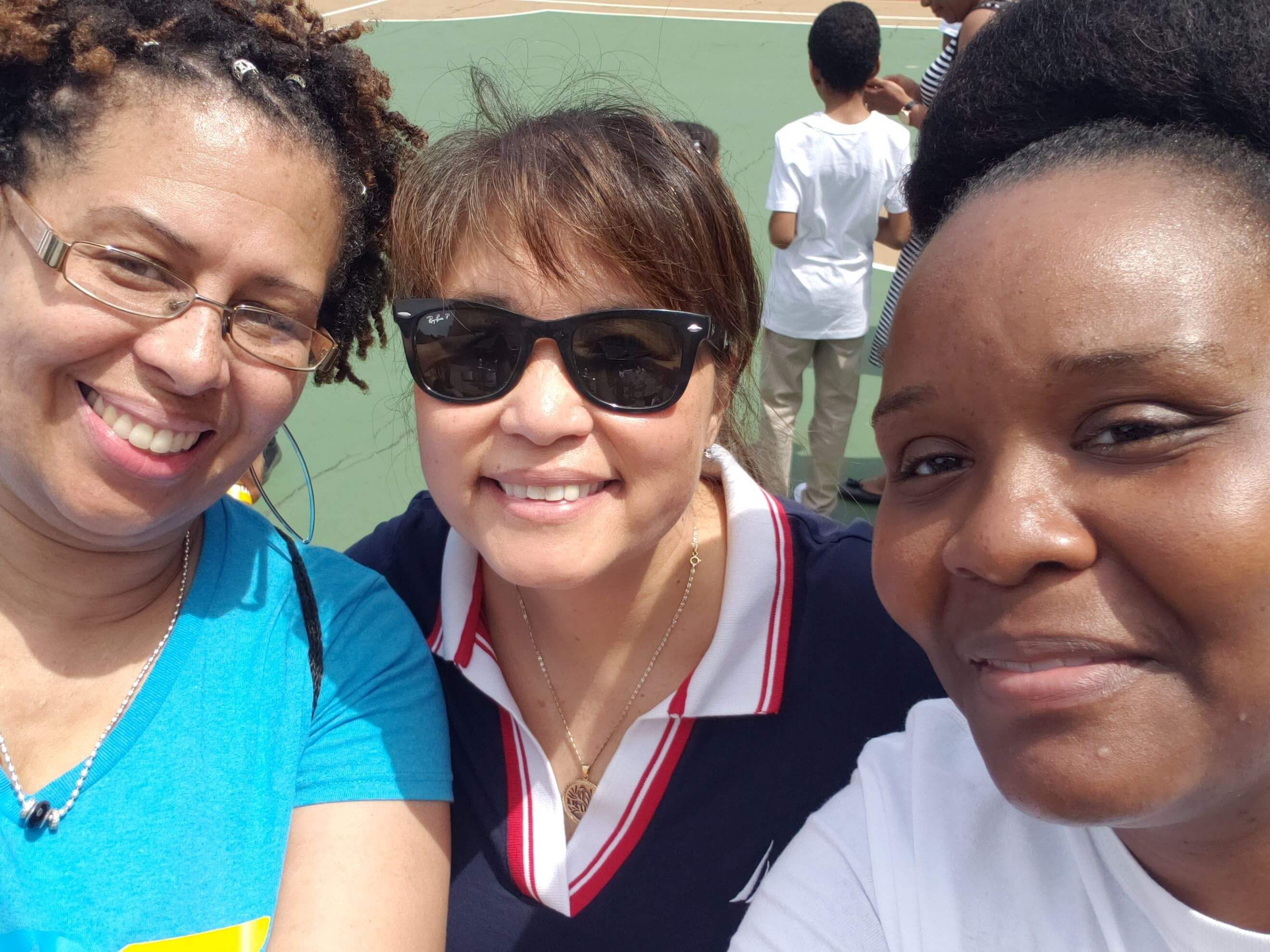 Ms. Dellimore, Ms. Sydney-Smith and Ms. Grey-Lubin at the June Jam