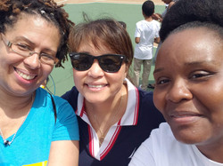 Ms. Dellimore, Sydney-Smith and Grey at the June Jam