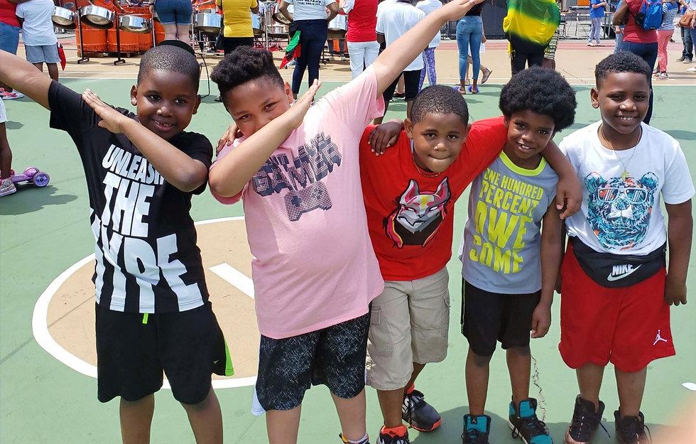 Third grade friends enjoying June Jam