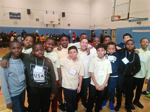Boys from My Brother's Keeper club in gym
