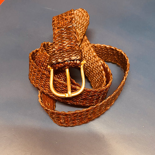 Plaited belt with buckle